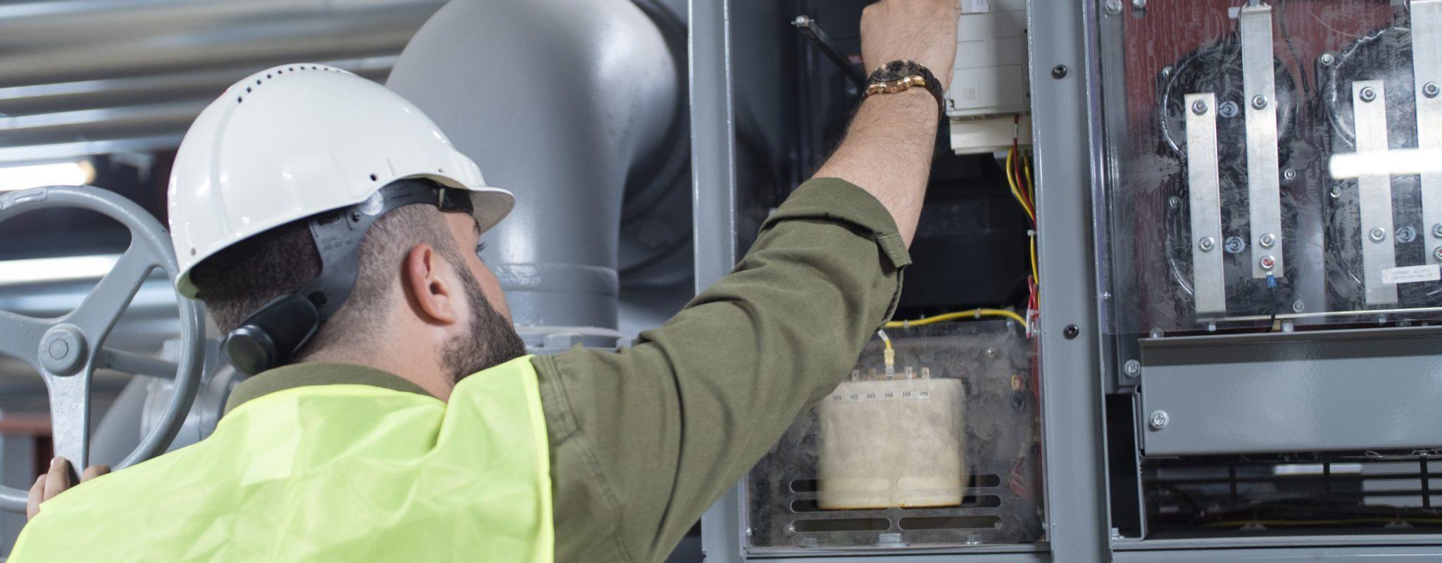 Engineer Checking The Panel